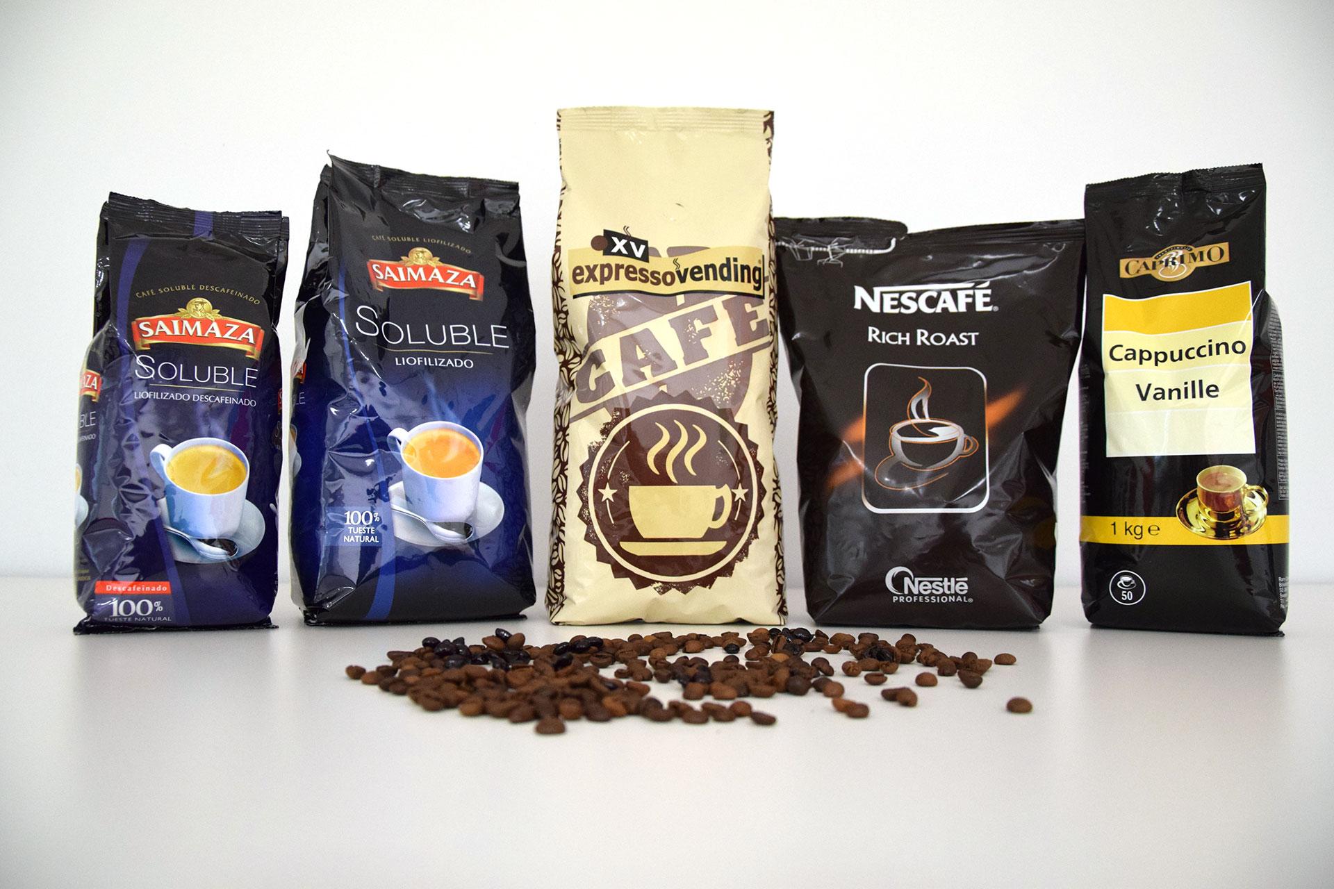 Café para máquinas vending